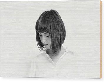 Porttrait #5451 Wood Print by Andrey Godyaykin