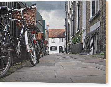 Wood Print featuring the photograph Portugal Place Cambridge by Gill Billington