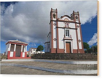 Portuguese Church Wood Print by Gaspar Avila