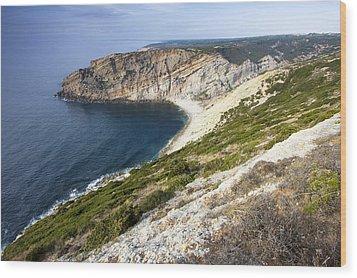 Portuguese Coast Wood Print by Andre Goncalves