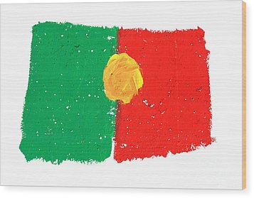 Portuguese Flag Wood Print by Gaspar Avila