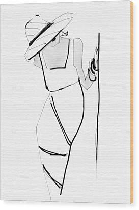 Posing Wood Print by Barbara Andolsek