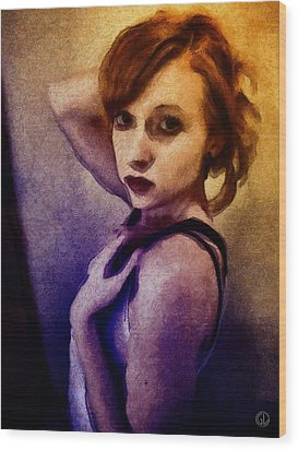 Wood Print featuring the digital art Posing For You by Gun Legler