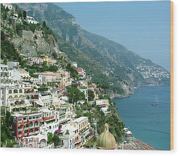Positano In The Afternoon Wood Print by Donna Corless