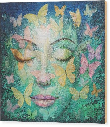 Wood Print featuring the painting Possibilities Meditation by Sue Halstenberg