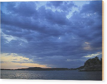 Possum Kingdom Blue Wood Print