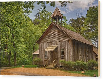 Possum Trot Church Wood Print