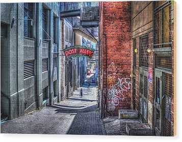 Wood Print featuring the photograph Post Alley Straggler by Spencer McDonald