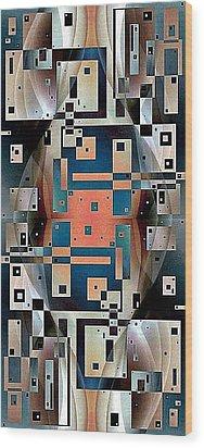 Post Modern Woman Continuum Ten Wood Print