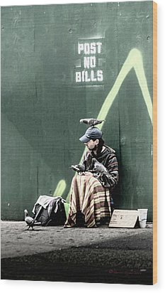 Wood Print featuring the photograph Post No Bills by Marvin Spates