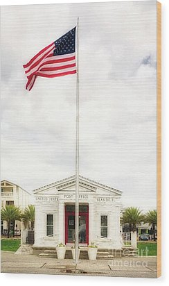 Wood Print featuring the photograph Post Office By The Sea by Mel Steinhauer