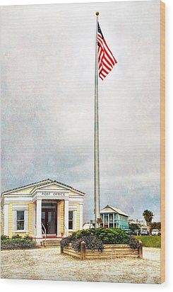 Post Office In Seaside Florida Wood Print by Vizual Studio