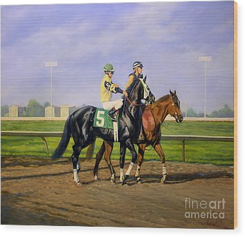 Post Parade Wood Print by Jeanne Newton Schoborg