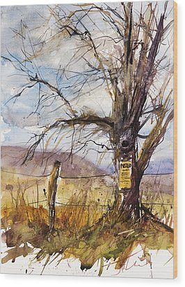 Posted Wood Print by Judith Levins