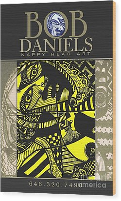 Poster Art Wood Print by Robert Daniels