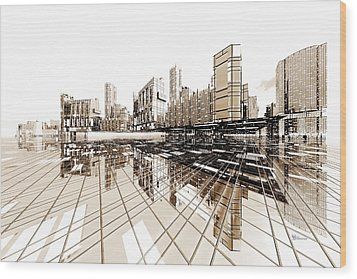Poster-city 4 Wood Print by Max Steinwald