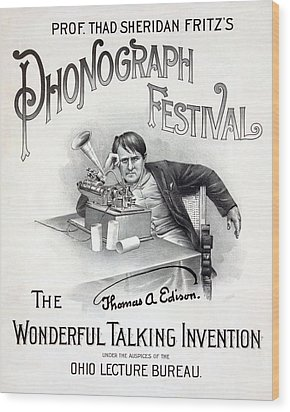 Poster For A Music Festival, Text Reads Wood Print by Everett