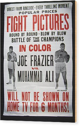 Poster For The First Joe Frazier Vs Wood Print by Everett