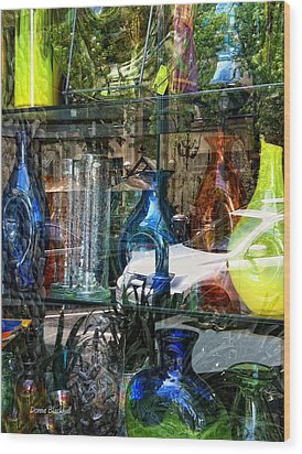 Potential Broken Glass Wood Print by Donna Blackhall