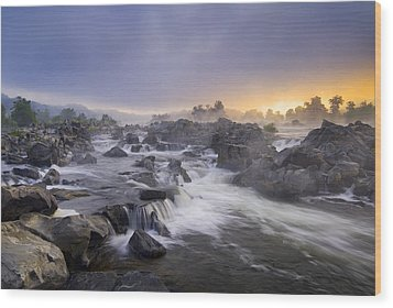 Potomac Light Wood Print by Joseph Rossbach
