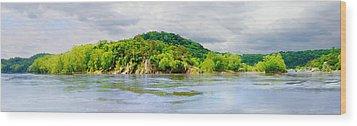 Potomac Palisaides Wood Print by Francesa Miller