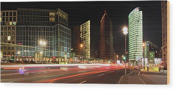 Potsdamer Place Wood Print by Marc Huebner
