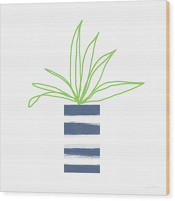 Wood Print featuring the mixed media Potted Plant 2- Art By Linda Woods by Linda Woods
