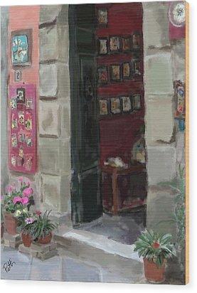 Pottery Shop Wood Print by Patti Siehien