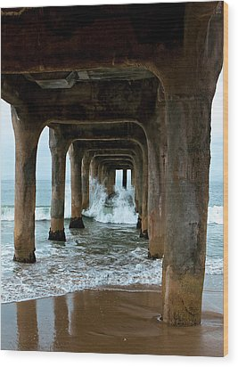 Pounded Pier Wood Print