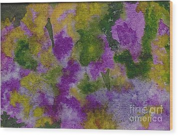 Wood Print featuring the painting Pouring Flowers by Vicki  Housel