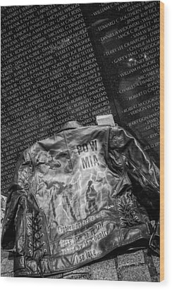 Pow Mia Never Forget Wood Print by Sennie Pierson
