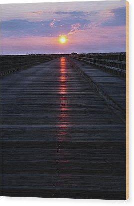 Powder Point Bridge  Wood Print