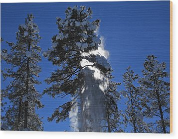 Wood Print featuring the photograph Powderfall by Gary Kaylor