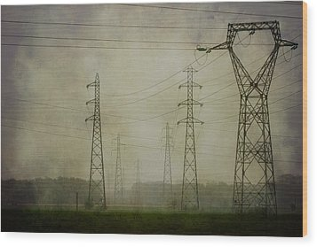 Power 5. Wood Print by Clare Bambers