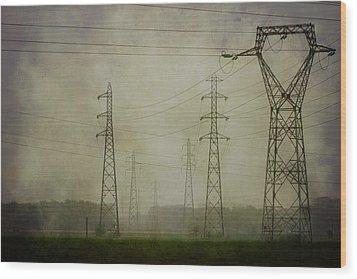 Power 5. Wood Print