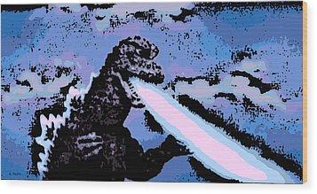 Power Blast Wood Print by George Pedro
