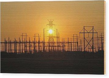 Power Wood Print by David Lee Thompson