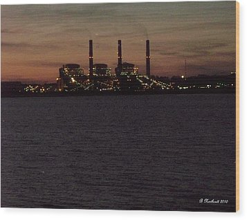 Wood Print featuring the photograph Power In The Dark by Betty Northcutt