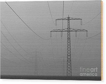 Wood Print featuring the photograph Power Line by Franziskus Pfleghart