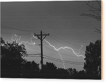 Power Lines Bw Fine Art Photo Print Wood Print by James BO  Insogna