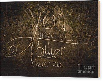 Power Struggle Wood Print