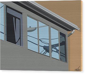 Power Windows Wood Print