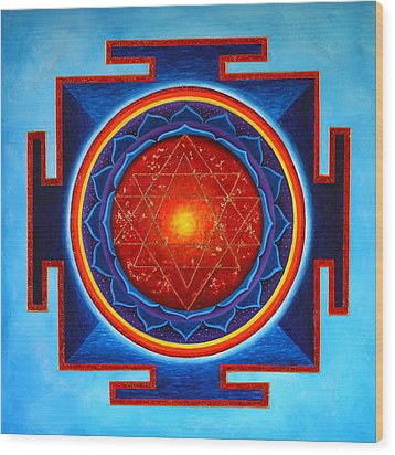Power Yantra Wood Print