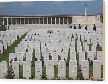 Wood Print featuring the photograph Pozieres British Cemetery by Travel Pics