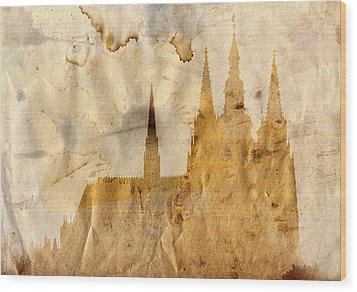 Prague Castle Wood Print by Michal Boubin