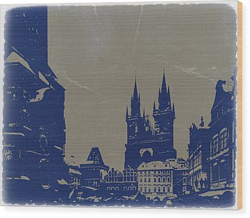 Prague Old Town Square Wood Print by Naxart Studio