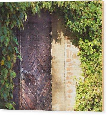 Praha Garden Door Wood Print by Shawn Wallwork