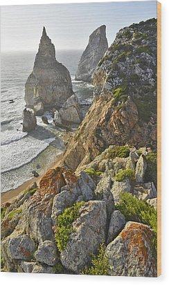 Wood Print featuring the photograph Praia Da Ursa  by Marek Stepan