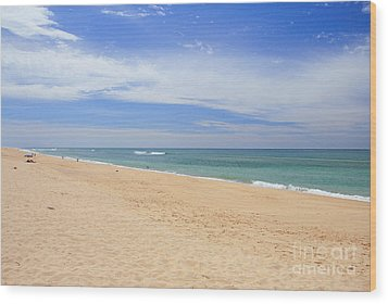 Praia De Faro Wood Print by Carl Whitfield