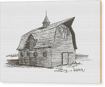 Prairie Barn Wood Print by Rick Stoesz